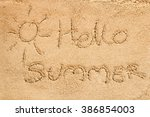 Written On Sand.sea And Sand...