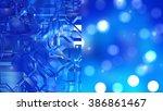 bokeh light  shimmering blur... | Shutterstock . vector #386861467