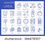 line vector icons in a modern... | Shutterstock .eps vector #386878507