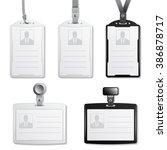 vector identification cards... | Shutterstock .eps vector #386878717