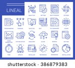 line vector icons in a modern... | Shutterstock .eps vector #386879383