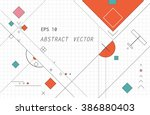 flat vector of geometric... | Shutterstock .eps vector #386880403
