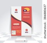 a4 flyer  multipurpose business ... | Shutterstock .eps vector #386880637