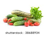 fresh vegetables isolated on... | Shutterstock . vector #38688934