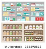 pharmacy and herbalist's shop... | Shutterstock .eps vector #386890813