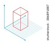 direction of x y and z axis...   Shutterstock .eps vector #386891887