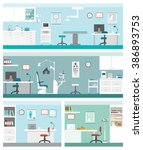 healthcare and clinics banners... | Shutterstock .eps vector #386893753