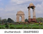 india gate  new delhi  india.... | Shutterstock . vector #386898883