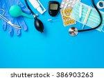 medical equipment background | Shutterstock . vector #386903263