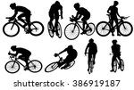 set of cycler silhouette | Shutterstock .eps vector #386919187