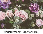 Stock photo beautiful bouquet flower for background vintage filter 386921107