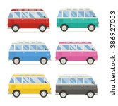 Colorful Travel Bus Collection...