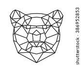 polygonal animal | Shutterstock .eps vector #386952853