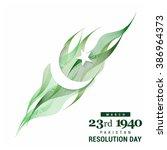 23 march. pakistan day....   Shutterstock .eps vector #386964373