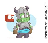 a series of characters on the... | Shutterstock . vector #386987227