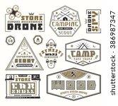 set of emblems for t shirt....   Shutterstock .eps vector #386987347