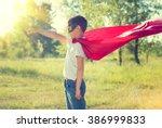 Super Hero Kid Having Fun...
