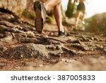 Cross Country Running. Closeup...