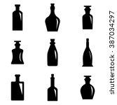 old retro bottle icon set   Shutterstock .eps vector #387034297