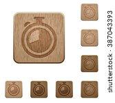 set of carved wooden timer...