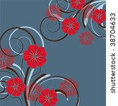abstract floral background with ... | Shutterstock .eps vector #38704633