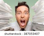 emotional stress. | Shutterstock . vector #387053407