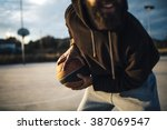 real man playing street... | Shutterstock . vector #387069547