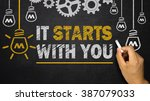 it starts with you | Shutterstock . vector #387079033