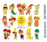 big set of cute cartoon kids