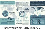 ecological infography with the... | Shutterstock .eps vector #387100777