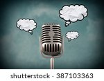 retro style microphone with... | Shutterstock . vector #387103363