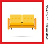 couch icon | Shutterstock .eps vector #387105937