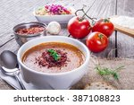 turkish traditional lentil... | Shutterstock . vector #387108823