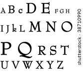 letters of the alphabet on a... | Shutterstock . vector #38710990