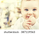 child  happiness and people... | Shutterstock . vector #387119563
