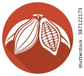 cocoa beans flat icon | Shutterstock .eps vector #387122173