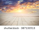 square and sunset | Shutterstock . vector #387133513