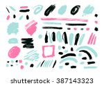 grunge brush stroke . vector... | Shutterstock .eps vector #387143323