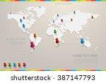 vector infographic set | Shutterstock .eps vector #387147793