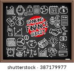 doodle finance  banking and... | Shutterstock .eps vector #387179977