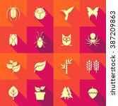 vector flat icon set   flora... | Shutterstock .eps vector #387209863