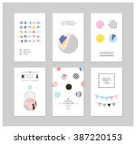 collection of trendy party... | Shutterstock .eps vector #387220153