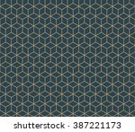 seamless tan blue and brown... | Shutterstock . vector #387221173