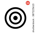 target icon. target icon vector.... | Shutterstock .eps vector #387225613