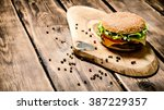 fresh burger with cheese  meat...