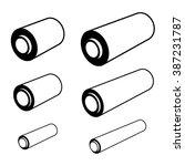 vector roll of any foil black... | Shutterstock .eps vector #387231787