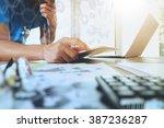 medicine doctor hand working... | Shutterstock . vector #387236287