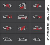 car service icons set  vector... | Shutterstock .eps vector #387246847