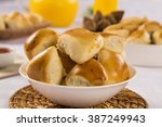 brazilian snack. meat esfiha... | Shutterstock . vector #387249943
