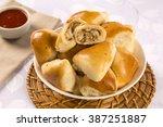 brazilian snack. chicken esfiha ... | Shutterstock . vector #387251887